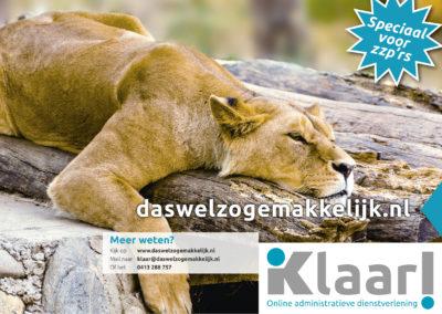 Klaar! A2 affiche Lion