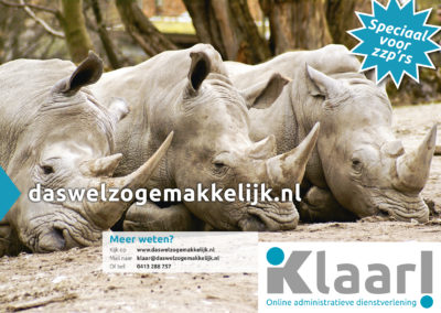 Klaar! A2 affiche rhinos