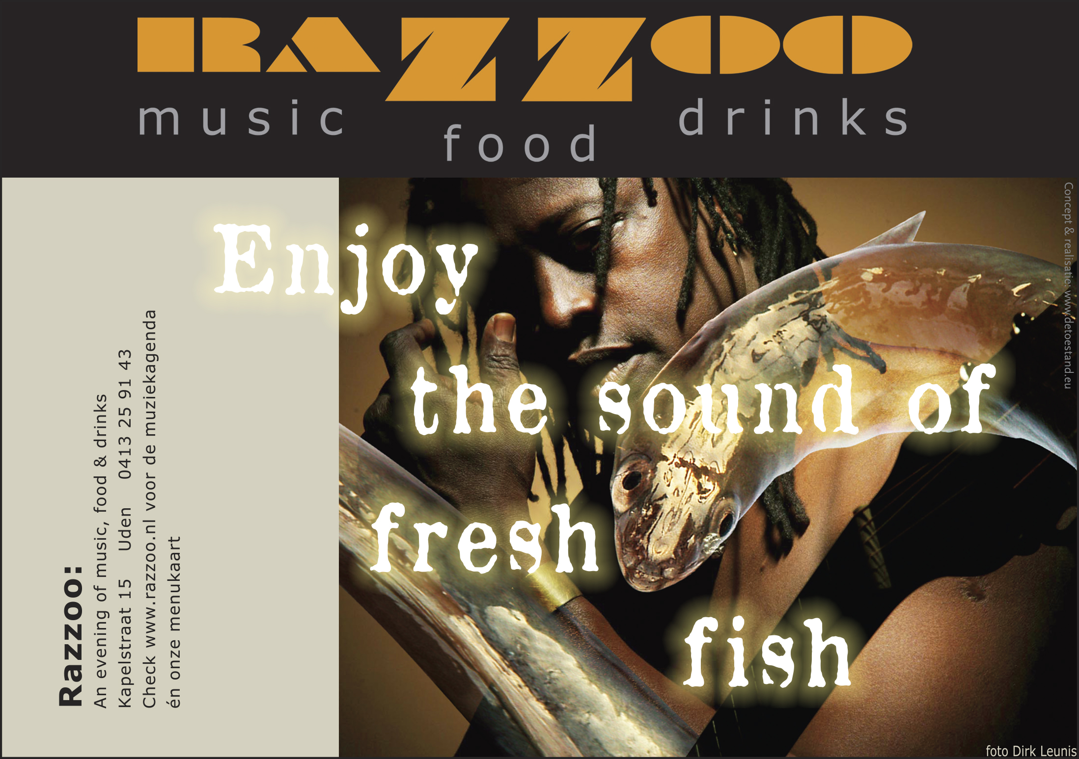 Advertentie Razzoo Music Food Drinks