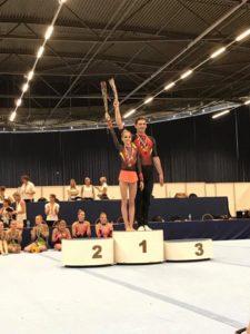 Acrogymduo Fenne van Dijck en Stef van der Locht op weg naar WK in Antwerpen