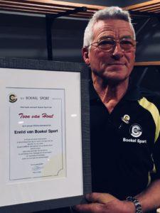 Toon van Hout benoemd tot erelid Boekel Sport
